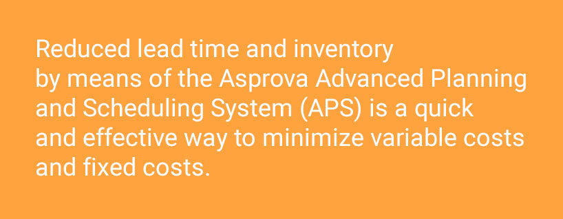Reduced lead time and inventory by APS System is a quick and effective way to minimize variable costs and fixed costs